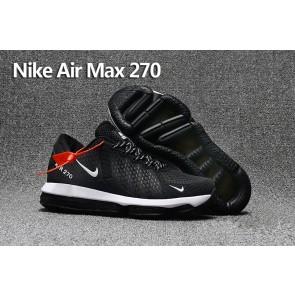 Nike Air Max 270 Trainers KPU TPU Noir Blanche Meilleur Prix