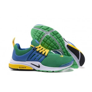 "Acheter Nike Air Presto ""Brazil""Chaussures Verte Jaune Bleu"