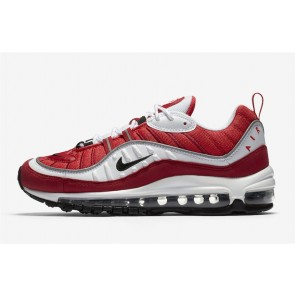 "Nike Air Max 98 Homme ""Gym Rouge"" Blanche Noir Pas Cher"