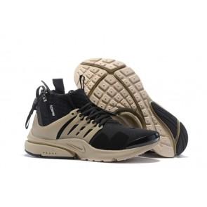 Homme ACRONYM x Nike Air Presto Mid Chaussures Noir Marron Soldes