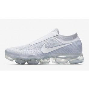 "Homme Nike Air VaporMax ""LACELESS"" Pure Platinum Blanche Soldes"