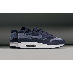 Homme Nike Air Max 1 Premium Suede Perforated Pack Bleu Blanche Pas Cher