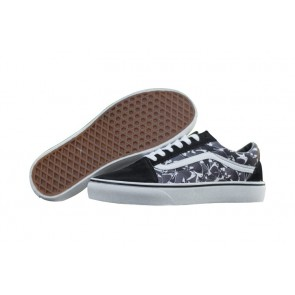Chaussures Vans Butterfly Old Skool Pas Cher - Noir Blanche