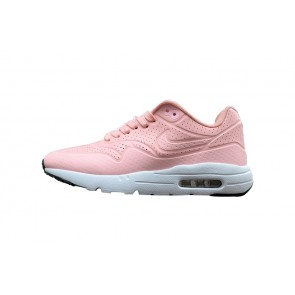 Nike Air Max 1 Ultra Moire Femme Rose Blanche Pas Cher