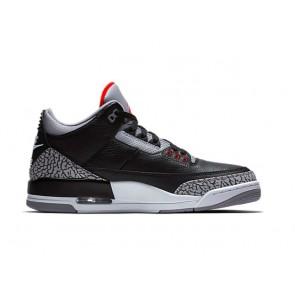 """Homme Nike Air Jordan 3 Retro """"Noir CEMENT"""" Noir Grise Pas Cher"""