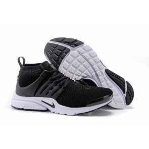 Boutique Homme Nike Air Presto Ultra Flyknit High Chaussures Noir Blanche