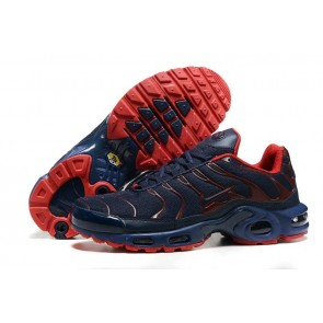 Chaussures Nike Air Max TN Plus Homme Marine Rouge Soldes