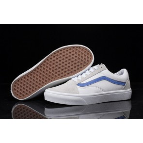 Chaussures Vans Old Skool Canvas Blanche Grise Vente