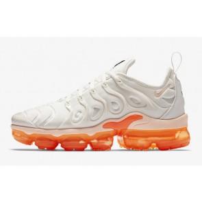Homme Nike Air VaporMax Plus Blanche Orange Pas Cher