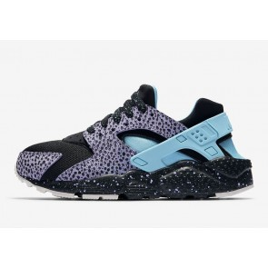 "Grade School's Nike Air Huarache Run GS ""Dotted Print"" Noir Pourpre Rabais"