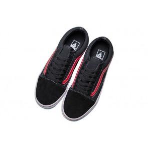 Boutique Vans Old Skool Noir Rouge | Chaussures Vans