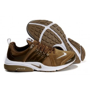 Chaussures Nike Air Presto Marron Blanche Soldes