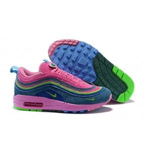 new products 9fb29 36534 Boutique Femme Sean Wotherspoon x Nike Air Max 97 1 Hybrid Rose Bleu