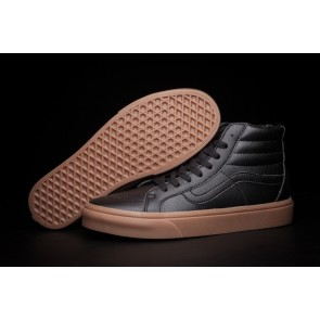 Boutique Chaussures Vans SK8 Hi Slim Lerather Noir