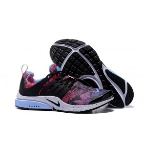 Chaussures Nike Air Presto Noir Rose Bleu Print Pas Cher