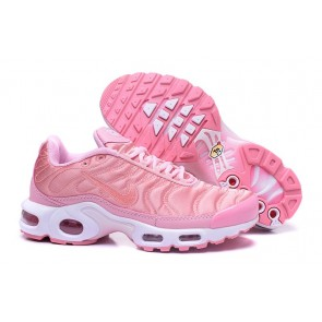 Chaussures Nike Air Max TN Plus Rose Blanche Pas Cher - Femme