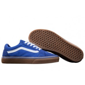 Chaussures Vans Old Skool Classic Pas Cher - Bleu Blanche