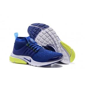 Chaussures Nike Air Presto Ultra Flyknit High Femme Bleu Soldes