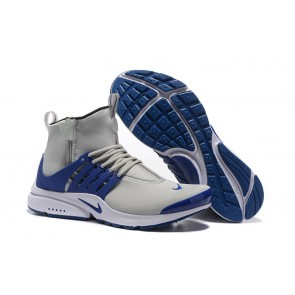Homme Nike Air Presto High Chaussures Grise Bleu Soldes