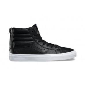 Chaussures Vans SK8 Hi Reissue Zip Pas Cher - Noir Blanche