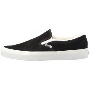 Chaussures Vans Classic Slip on Noir Blanche Soldes