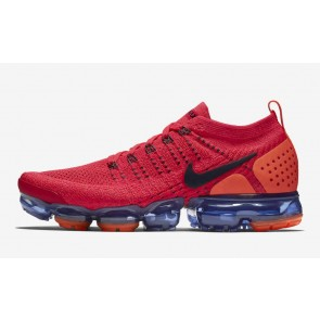 Homme Nike Air VaporMax 2.0 Flyknit Rouge Orange Soldes