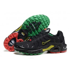 Chaussures Nike Air Max TN Plus Homme Noir Jaune Soldes