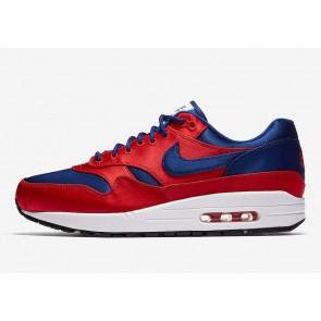Nike Air Max 1 Homme SE Rouge Bleu Meilleur Prix