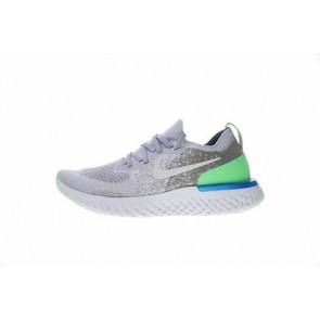 "Homme Nike Epic React Flyknit ""Lime Blast"" Trainers Grise Pas Cher"