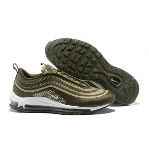 Homme Nike Air Max 97 UL'17 Olive Verte Blanche Meilleur Prix
