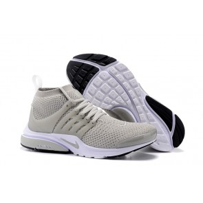 Nike Air Presto Ultra Flyknit High Pas Cher, Homme, Chaussures Grise