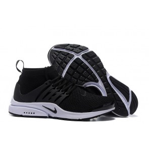 Boutique Chaussures Nike Air Presto High Ultra Flyknit Noir Blanche
