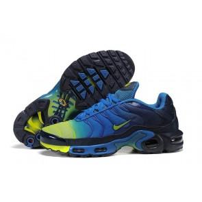 Chaussures Nike Air Max TN Plus Homme Soldes | Bleu Jaune