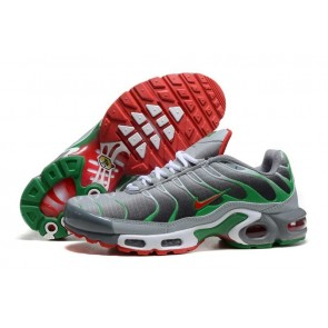 Chaussures Nike Air Max TN Plus Homme Grise Rouge Pas Cher