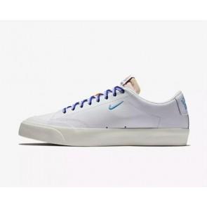 Boutique Quartersnacks x Nike SB Zoom Blazer Low XT QS Skate Homme Blanche Bleu