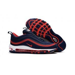 Homme Nike Air Max 97 KPU TPU Bleu Rouge Soldes