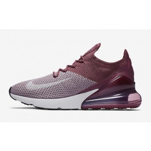 Nike Air Max 270 Flyknit Plum Fog Homme Blanche Rouge Soldes
