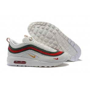 Homme Sean Wotherspoon x Nike Air Max 97 1 Hybrid Blanche Rouge Meilleur Prix