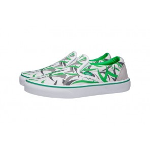 Vans Classic Slip on Verte | Chaussures Blanche Grise