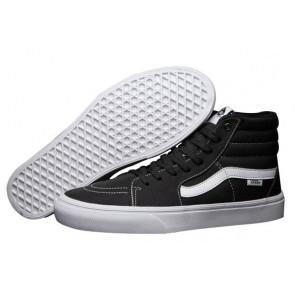 Vans Sk8 Hi Lite Pas Cher | Chaussures Noir Blanche