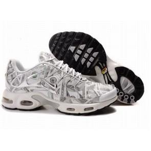 Chaussures Nike Air Max TN Plus Homme Blanche Vente