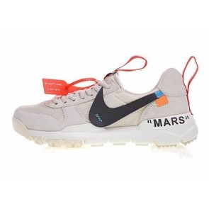 GD x Off-White x Nike Craft Mars Yard TS NASA 2.0 Premium Cream Blanche Grise Rabais
