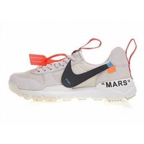 GD x Off-White x Nike Craft Mars Yard TS NASA 2.0 Premium Cream Blanche Grise Rabais