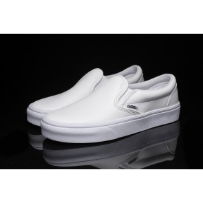 Chaussures Vans Classic Slip on Blanche Pas Cher