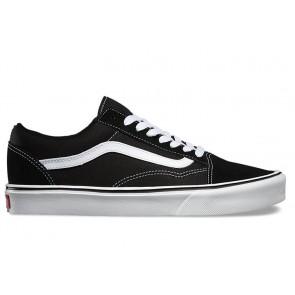 Chaussures Vans Old Skool Lite Noir Blanche Pas Cher