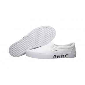 Chaussures Vans Nintendo Slip on Pure Blanche Soldes