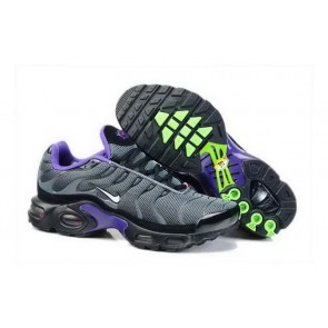 Chaussures Nike Air Max TN Plus Homme Anthracite Blanche Pourpre Soldes