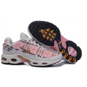 Chaussures Nike Air Max TN Plus Femme Blanche Rose Pas Cher
