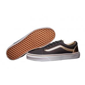 Chaussures Vans Old Skool Pas Cher - Noir Or