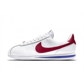 Homme Nike Cortez Leather OG Blanche Rouge Rabais